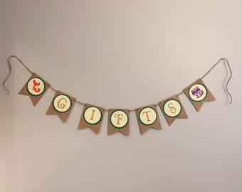 """Woodland Theme """"Gifts"""" Banner"""