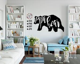 Papa Bear SVG, Svg Cut File, Papa Bear Cut Files, Cricut, Papa Bear Dxf, Papa Svg, Papa Bear Decal, Bear Decal, Bear SVG, Bear Family, Papa
