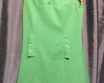 vintage 60's dress green