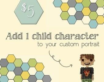 Add on: 1 Child Character // custom family portrait