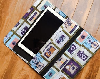 FREE SHIPPING | Vintage iPad Case | Laptop Carrier | Tablet Sleeve | Retro Accessory Case | Present For Man Or Woman