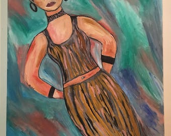 Lady water color