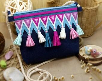 DIY Kit Tassel Felt Crossbody Bag / Handbag