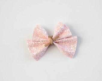 Light Pink Glitter Bow
