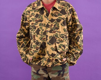 Camo Clothing, 90 Shirt, Hunting Camouflage, 90s Clothing, Camouflage Clothes, Hunting, Button Up, Spring Shirt, Vintage, 90s, Hipster