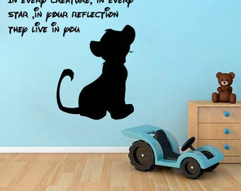 The Lion King Wall Decal Cartoon Vinyl Sticker Kids Room Decor Home  Interior Wall Vinyl Design
