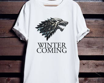Game Of Thrones Shirt, Winter Is Coming Men's t-shirt, GOT T-shirts, thrones shirt, Labor Day sale, game of thrones gifts,house stark shirt