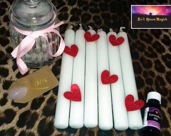 White or Red Altar Conjure Passion Dinner Ritual Candles X 1 Root Chakra Love Passion Blessed & Anointed for FREE