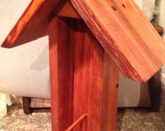 Handmade Stained Bird Feeder