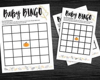 Fall Baby BINGO Game
