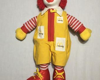 1984 Ronald McDonald Plush Doll - Ronald McDonald House