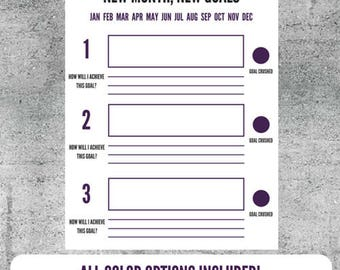 Printable Goal Setting Worksheet, Goals, Goal Tracker, Plan, Goal Planning, Accomplishments, organize