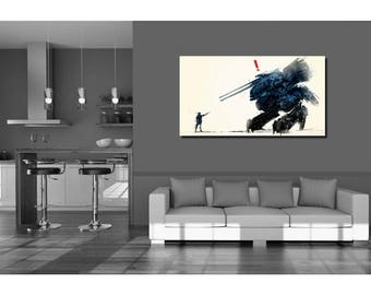Metal Gear Solid Wall Art Design Gift - High Quality Print on Poly-Matte Canvas 26inch x 14inch x 18mm