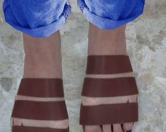 Sandals Women's,Women's Sandals,Handmade Leather Sandals,Chocolate Sandals,Strappy Sandals,ladies sandals,ARXAIKO,Classic sandals ANNABELLE