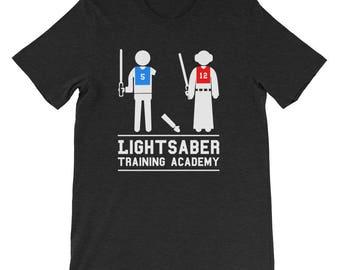 Light Saber Training Academy, Women Empowerment, Nerd Shirt Funny Short-Sleeve Unisex T-Shirt