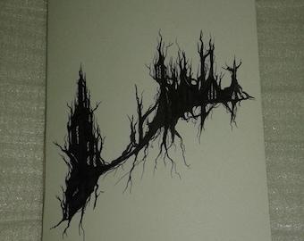 Overgrown Ruins Blank Minibook