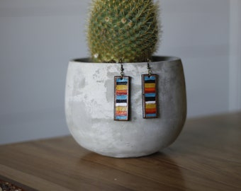 Serape Collection Ingrid Earrings | Leather Earrings | Birthday Gift | Anniversary Gift | Gifts under 25 | Handmade | Gifts for Her