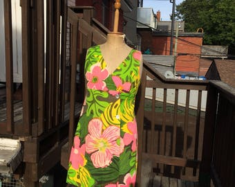 Floral 'Hawaiian' Crossover Dress