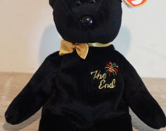 Ty The End Rare Original Beanie Baby! (Multiple Swing and Tush Tag Errors!!)