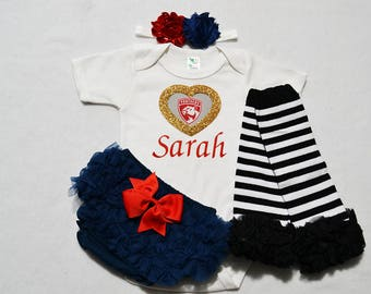 florida panthers baby girl outfit - baby girls florida panthers outfit -  baby girl florida panthers hockey - panthers baby girl hockey