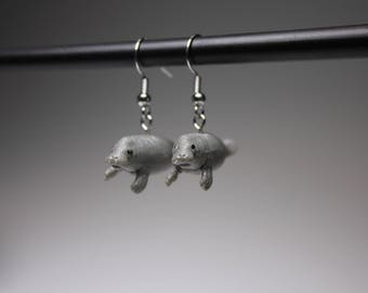 Manatee Earrings