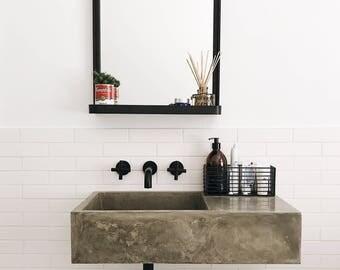 Polished concrete bathroom sink