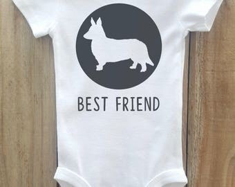 Corgi Baby Bodysuit, Corgi Best Friend, Corgi Shirt, Dog Breed Shirt, Dog Lover Gift, Dog Breed Gift, Corgi Baby Clothes, Dog Breed Bodysuit