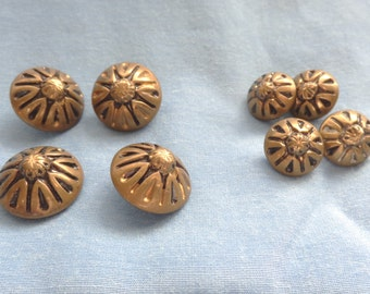 1940's Antiqued Look Metal Buttons