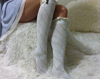 Sale Lace Boot Socks, Boot Socks, Womens Lace Boot Socks, Boot Sock, Lace Socks, Boot Toppers, Lace Cuffs, Lace Toppers, Boot socks Lace