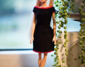 Black Barbie doll dress