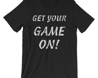 Get Your Game On!  Valentine cotton Short-Sleeve Unisex T-Shirt