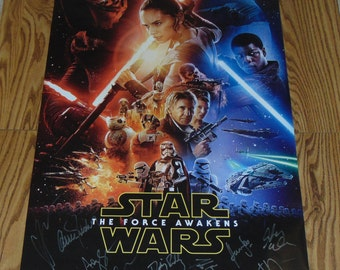Authentic Star Wars The Force Awakens Signed Autographed Poster Daisy Ridley