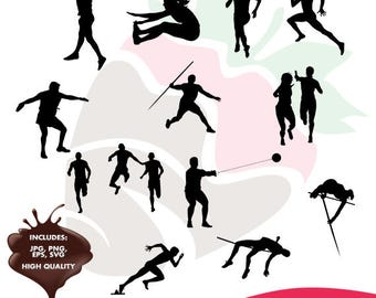 Track and Field collection eps, jpg, png and svg files SC-092