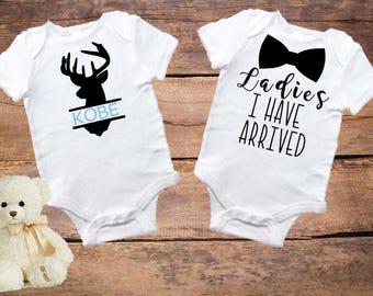 Custom onesies for Jordan, onesie set, personalized onesie, bowtie