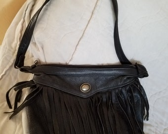 Western style leather purse