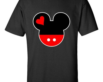 Mickey Mouse Head Disney Couple T-shirts Designed Tee Shirts Men Size Unisex Tops Clothing for Men and Women