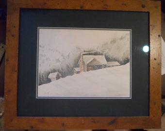 Winter Storm Original Watercolor