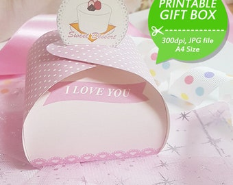 021 Printable Gift Boxes - Sweet Dessert 01