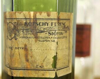 Antique pharmacy bottles, vintage bottles, apothecary bottles, vintage decoration