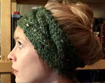 Forest Cable-Braid Headwrap
