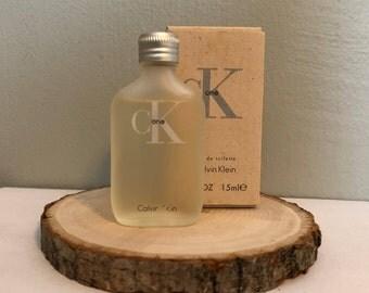 Vintage Calvin Klein One Vanity Collectible Miniature Perfume Bottle