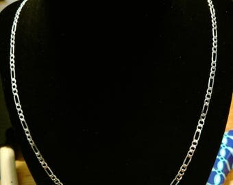 2mm Sterling Silver Figaro Chain Necklace
