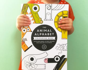 Animal Alphabet Colouring Book - 32 pages of colouring activities for children - beautiful quality