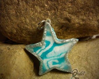 Turquoise Swirl Star Pendant