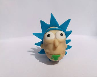 Rick and Morty Polymer Clay Rick Keychain