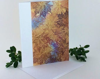 Maple tapestry no. 3 blank card, individually handmade, not a reproduction: A2, notecards, fine cards, SKU BLA21003