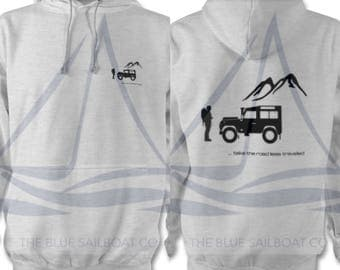 Land Rover Defender Explorers Hoodie, One Life Live It, Land Rover, Defender, Novelty T-Shirt, Cars,  Land Rover T-Shirt Adults