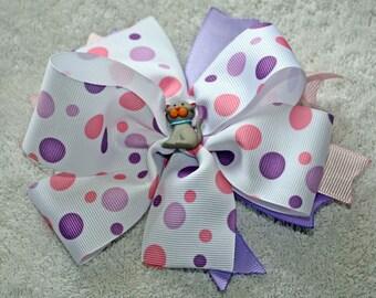 Handmade Hair Bow, Girl, Infant, Toddler Hair Bow, Alligator Clip