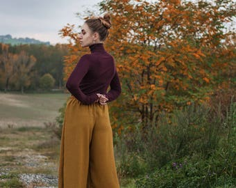 Coulotte Trousers with elastic