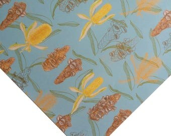 Flowers Wrapping Paper Golden Banksia